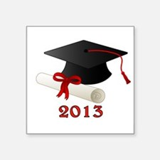 "GRADUATE 2013 Square Sticker 3"" x 3"""