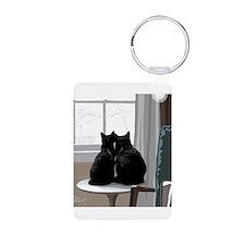 Winter Window Kitties Keychains