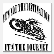 "It's the Journey Square Car Magnet 3"" x 3"""