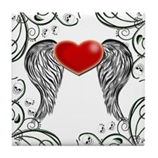 Winged Heart Tile Coaster