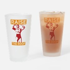 Funny Raise the Roof Design Drinking Glass