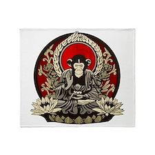 Zen Chimp Throw Blanket