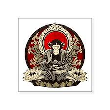 """Zen Chimp Square Sticker 3"""" x 3"""""""