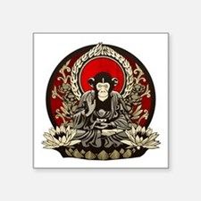 "Zen Chimp Square Sticker 3"" x 3"""