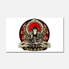 Zen Chimp Car Magnet 20 x 12