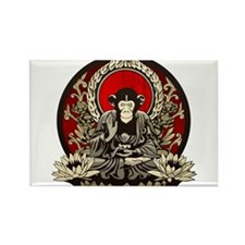Zen Chimp Rectangle Magnet