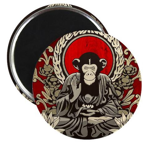 "Zen Chimp 2.25"" Magnet (100 pack)"
