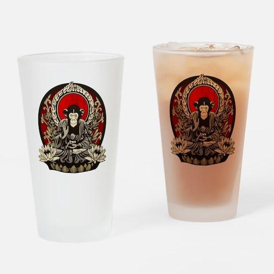 Zen Chimp Drinking Glass