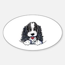 KiniArt Parti Cocker Sticker (Oval 10 pk)