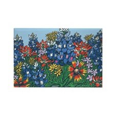 Cute Wildflowers Rectangle Magnet