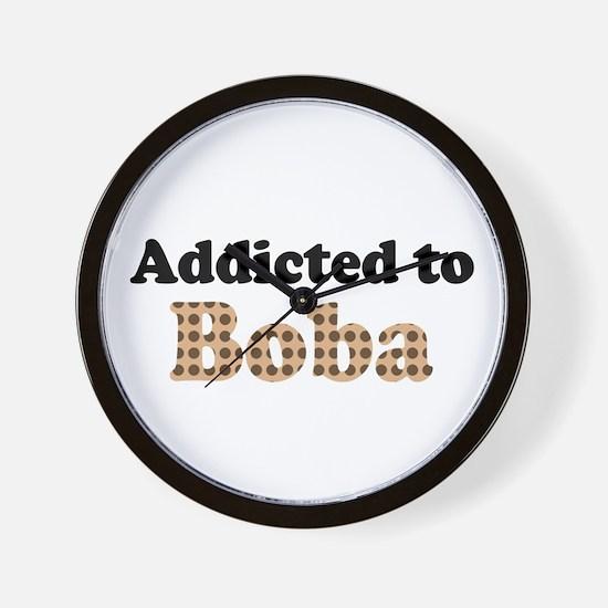 Addicted to Boba Wall Clock