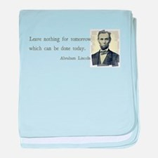 Quotable Abraham Lincoln baby blanket