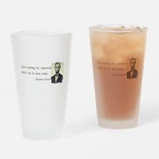 Quotable Abraham Lincoln Drinking Glass
