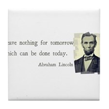 Quotable Abraham Lincoln Tile Coaster