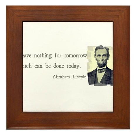 Quotable Abraham Lincoln Framed Tile