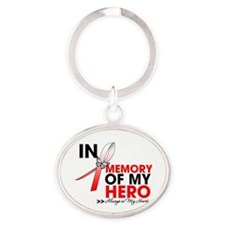 In Memory Hero MDS Oval Keychain