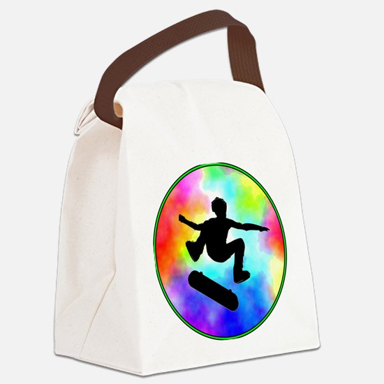 skater tie-dye.png Canvas Lunch Bag