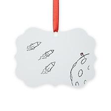 Moon Rockets Ornament
