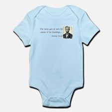 quotable Abe Lincoln Infant Bodysuit