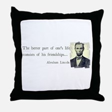 quotable Abe Lincoln Throw Pillow