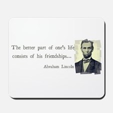 quotable Abe Lincoln Mousepad