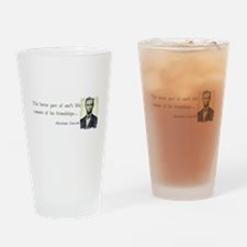 quotable Abe Lincoln Drinking Glass