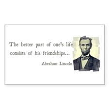 quotable Abe Lincoln Decal