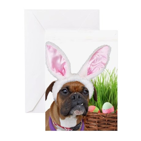 Easter Boxer Dog Greeting Cards (Pk of 10)