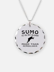 Sumo Wrestling Designs Necklace
