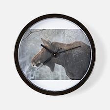 Moose looking over Wall Clock