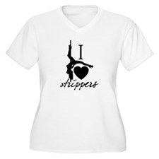 I heart strippers Plus Size T-Shirt