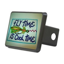 FLY TIME IS COOL TIME cartoon design. Hitch Cover