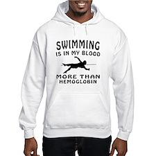 Swimming Designs Hoodie