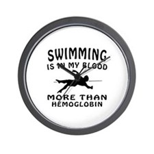 Swimming Designs Wall Clock