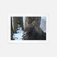 Moose portrait 1 5'x7'Area Rug