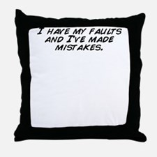 Funny I made a huge mistake Throw Pillow