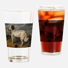 Newfoundland Landseer with Rabbit Drinking Glass