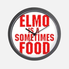 Elmo is a sometimes food Wall Clock