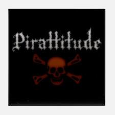 Pirate Attitude Pirattitude Tile Coaster