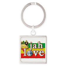 Jah Love Square Keychain