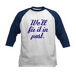 Fix it in Post Kids Baseball Jersey