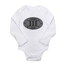 Molon Labe Oval Long Sleeve Infant Bodysuit
