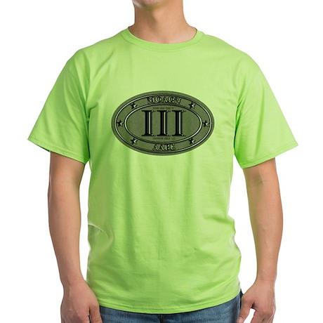 Molon Labe Oval Green T-Shirt