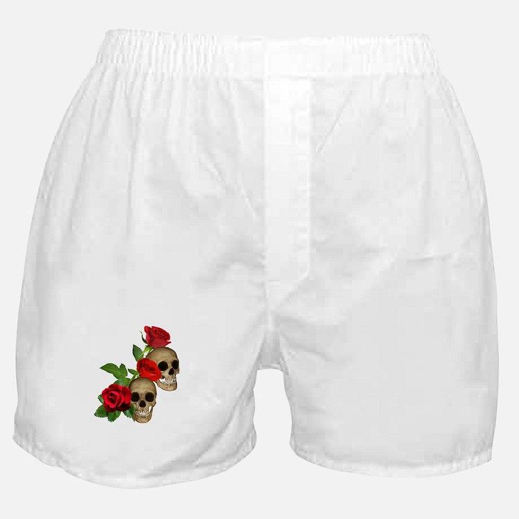 Skulls Roses Boxer Shorts