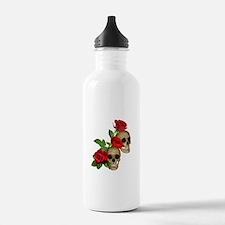 Skulls Roses Sports Water Bottle