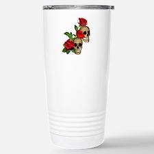 Skulls Roses Travel Mug