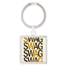 Swag (Gold) Square Keychain