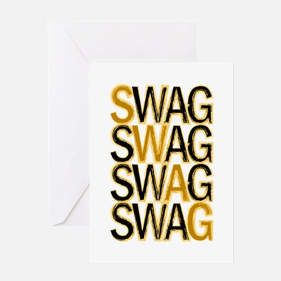 Swag (Gold) Greeting Card