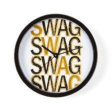 Swag (Gold) Wall Clock