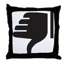 Thumbs Down Throw Pillow